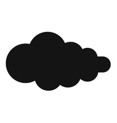 Cloud with fallout icon simple style vector