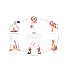 cmr sale data base communication marketing vector image