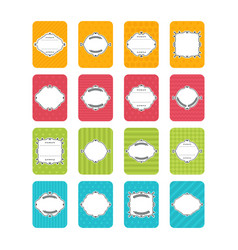 collection stickers and labels in flat design vector image