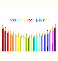 coloured pencils arc vector image