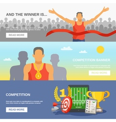 Competition Horizontal Banners vector