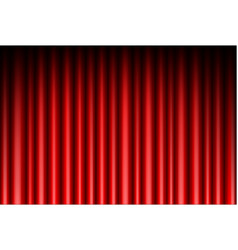 Curtain red background vector