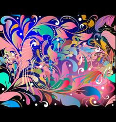 elegance colorful vintage floral seamless vector image
