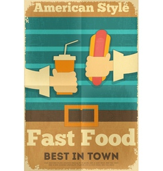 Fast Food Fun Poster vector