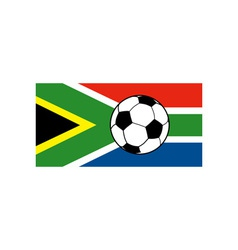 flag south africa with soccer football ball vector image