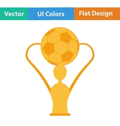 Flat design icon of football cup vector image