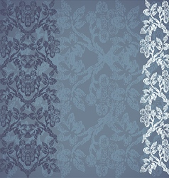 Floral border vertical background vintage vector