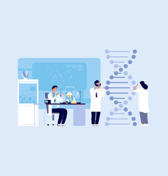 Genetic science dna molecule laboratory research vector