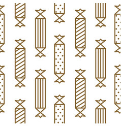 gold and white party crackers seamless vector image