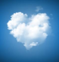 Heart Shape Cloudscape vector image