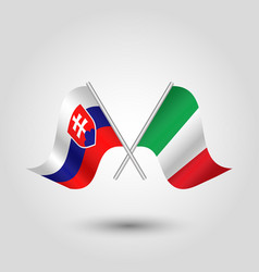 Icon of slovakia and italy vector