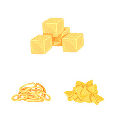 Isolated object food and crunchy icon set of vector
