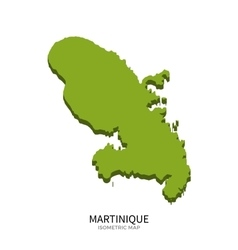 Isometric map of Martinique detailed vector