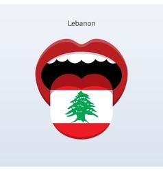 Lebanon language Abstract human tongue vector
