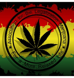 Legalization of Marijuana vector image