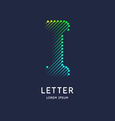 letter i latin alphabet display vector image