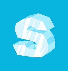 letter s ice font icicles alphabet freeze vector image vector image