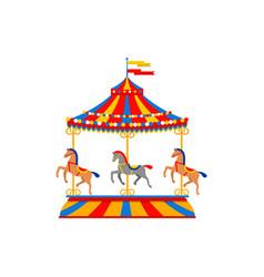 Merry go round carousel vector