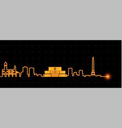 minsk light streak skyline vector image