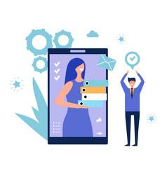 Online assistant effective time management vector