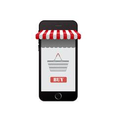 Online shop on smart phone vector