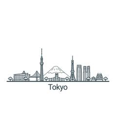 Outline tokyo banner vector