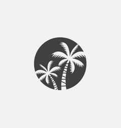 Palm tree icon coconut tree icon symbol vector