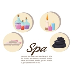 Poster spa collection elements care treatment vector