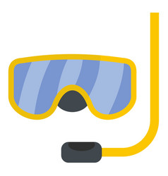 scuba mask icon flat style vector image