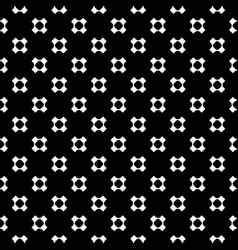 seamless pattern with perforated crosses vector image