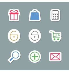 Shopping Icons as Labes vector image
