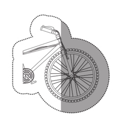 Silhouette sticker medium part bicycle with pedals vector