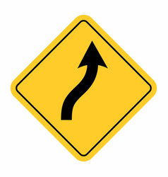smooth curve road sign vector image