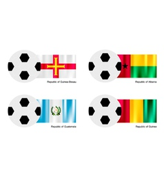 Soccer Ball of Guinea Bissau Albania Guatemala vector image