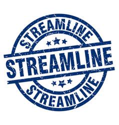 Streamline blue round grunge stamp vector