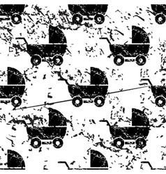 Stroller pattern grunge monochrome vector