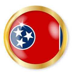 tennessee flag button vector image