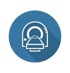 Tomography Icon Flat Design vector