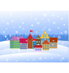 town winter vector image
