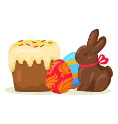 traditional easter treats isolated vector image