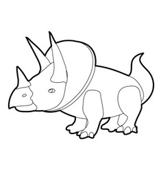 Triceratops icon outline vector