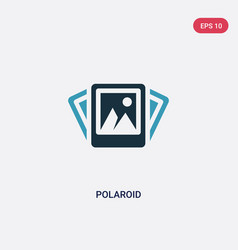 Two color polaroid icon from travel concept vector