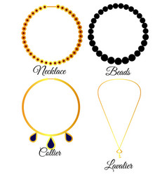 types of necklaces vector image