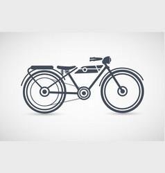 vintage retro motorcycle vector image