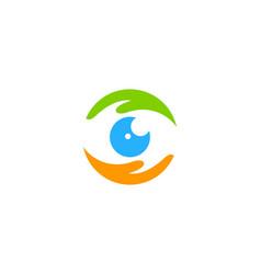 Vision care logo icon design vector