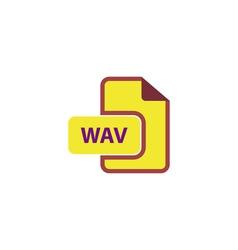 WAV Icon vector image