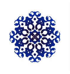 blue mandala pattern vector image vector image
