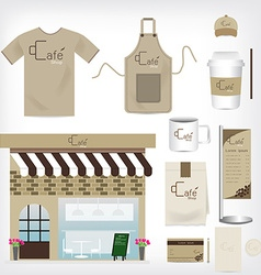 Cafe Shop Set can be used for Layout Flyer banner vector image vector image