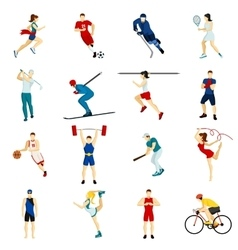 People Sport Icon Set vector image vector image