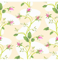 seamless vintage flower rose pattern vector image vector image